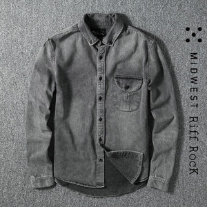 [MIDWEST]Riff RocK Washing Denim Shirts