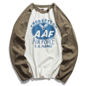 [HANJIRO japan]AIR FORCE Printed Raglan T NO.2