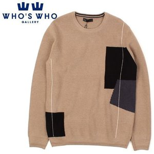 [WHO'S WHO] Side Square Knit