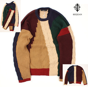 [BEEJEAN] COLOURFUL KNIT (오버핏)