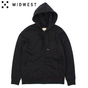 [MIDWEST] C.T.V  BLACK HOOD ZIP-UP 안감기모후드집업