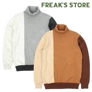 [FREAK'S STORE] Color Tuetle Neck Knit 배색터틀넥