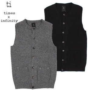 [TI] LAMBSWOOL BUTTON KNIT VEST 버튼니트조끼