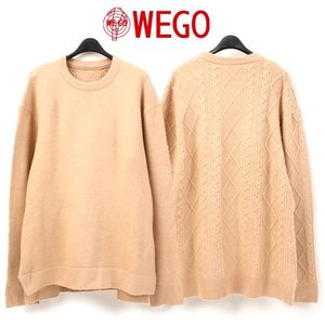 [WEGO] BACK TWISTED KNIT 백꽈배기니트