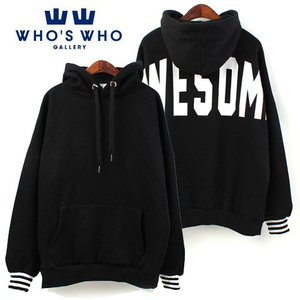 [WHO'S WHO] Awesome Overfit Hoody 오버핏후드티(안감기모)