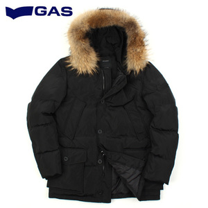 [GAS] Raccoon Fur Hood Down Padding BK 가스 라쿤퍼후드다운패딩