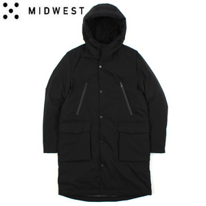 [MIDWEST] Simple Duck Down Hood Long Padding 오리털후드롱패딩