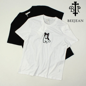 [BEEJEAN] Spangle Dog S/S Tee 비진 스팽글도그