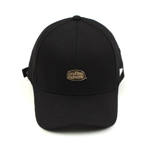 [UNIVERSAL CHEMISTRY] Metal Bubble Black Ballcap(GOLD/BLACK) 유니버셜케미스트리 메탈볼캡