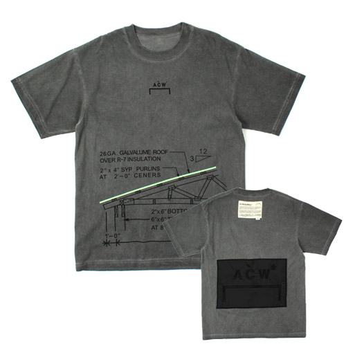 ACW PATCH S/S WASHING T 어콜드월 워싱티