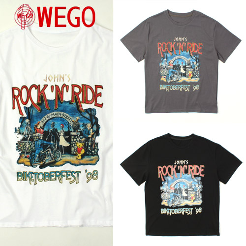 [WEGO] Rock'N Ride S/S Tee 락큰라이드티