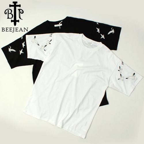 [BEEJEAN] Arm Bird Embo S/S Tee 비진 버드자수티