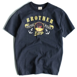 [Red Selvage Denim] NAVY BRO S/S Print-T