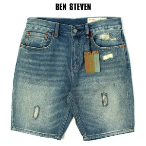 [BEN STEVEN] Damage Short Denim