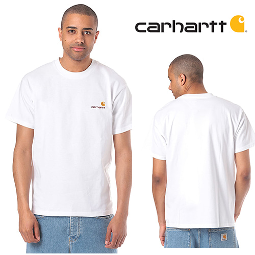 [Carhartt] American Script - T-Shirt for Men 칼하트 로고티