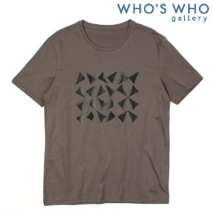 [WHO'S WHO] Triangle Print S/S Tee 삼각형프린트티