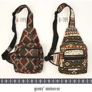 [gente'universe] ETHNIC BAG NO.003 장테 에스닉 슬링백