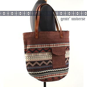 [gente'universe] ETHNIC BIG BAG NO.002 장테 에스닉 빅숄더백