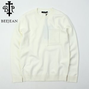 [BEEJEAN] Ivory Pocket Knit  포켓니트