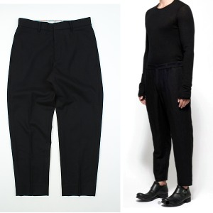 [another t.] F/W black regular-fit slacks 모직슬랙스