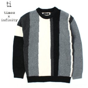 [TI] Unbal Stripe Gray Knit 그레이니트