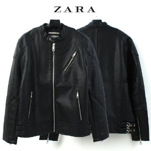 [ZARA] LEATHER RIDER JACKET 훼이크레더 라이더JK