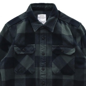 [MORATA TOLKINE] F/W HEAVY GREEN CHECK SHIRTS