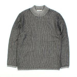 [ARCATO] MOCK NECK GRAY KNIT