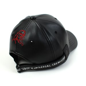 [UNIVERSAL CHEMISTRY×FRANK'S CHOPSHOP] Collabo Backstrap Leather Ballcap 유니버셜케미스트리