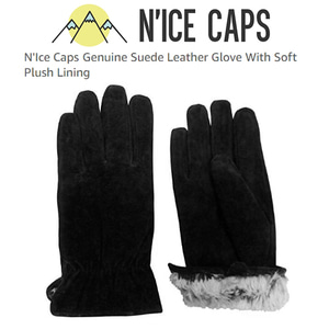 [N'ICE CAPS] Suede Leather Glove With Soft Plush Lining