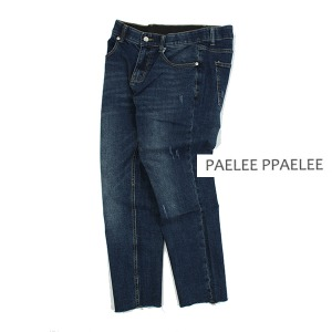 [PAELEE] Blue Washing cutting jeans 워싱컷팅진