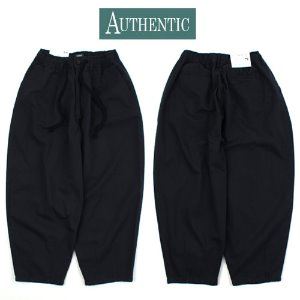 [AUTHENTIC] BALLOON COTTON NAVY WIDE PANTS 와이드 벌룬팬츠
