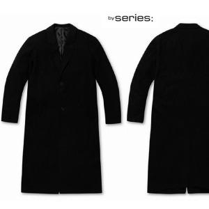 SERIES; CRINKLE LONG COAT 맨즈블랙롱코트