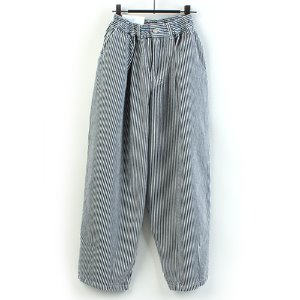 [AUTHENTIC] STRIPE BALLOON WIDE PANTS 와이드 벌룬팬츠