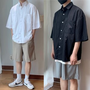 [THEJOON] Bio Washing S/S Shirts 바이오워싱셔츠