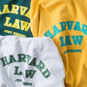 [PAELEE] HARVARD LAW S/S Tee 하버드 오버핏티