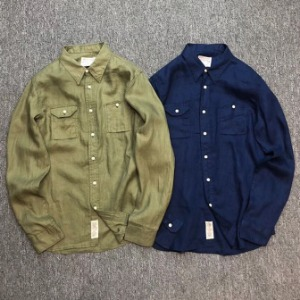 [AUSTOM&VUBTP] Austmo LINEN COLOR Shirts 린넨 컬러셔츠