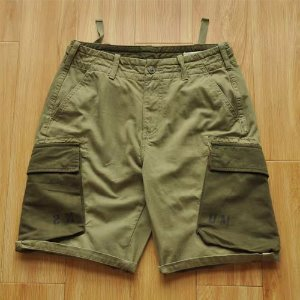 [BEN STEVEN] KHAKI POCKET SHORTS 포켓반바지