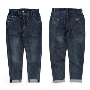 [TIATIA] DARK BLUE BANDING DENIM 밴딩데님