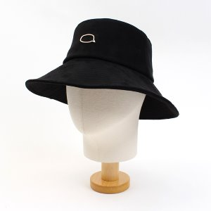 [UNIVERSAL CHEMISTRY] Black Suade Over Bucket Hat 유니버셜케미스트리