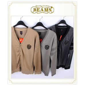 [BEAMS PLUS]V-NECK CARDIGAN 빔스V넥견장가디건