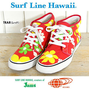 [BEAMS]SURF LINE HAWAII JAMS HI-TOP/빔스 플라워 하이탑