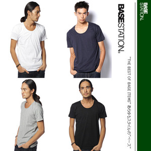[BASE CONTROL] Light U Neck Tee