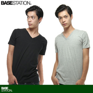 [BASE CONTROL]Light V Neck Tee
