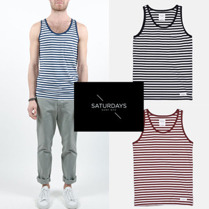 [Saturdays Surf NYC/BEAMS]Rosen Stripe Tank 빔스 스트라이프나시