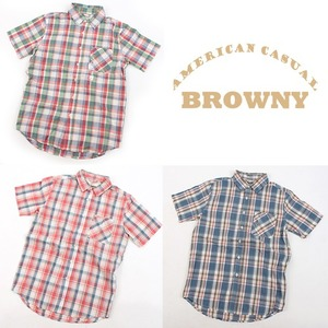 [BROWNY] broadcloth check shirts 브라우니 체크셔츠