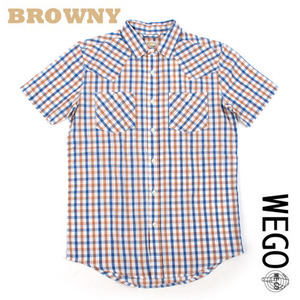 [WEGO/BROWNY]Western check shirts 웨스턴 체크셔츠 M(95)