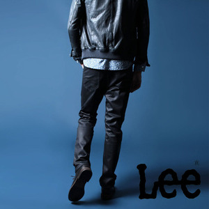 [LEE®JAPAN×nano universe]JEGGERS SALOUEL Black Shiny Jeans 리제펜×나노유니버스