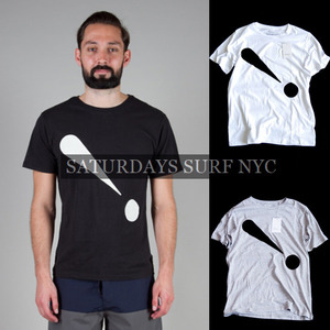 [Saturdays Surf NYC]Exclamation Print T 세러데이서프 프린트티