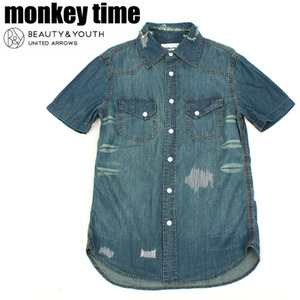 [MONKEY TIME/UNITED ARROWS]Washing Denim Shirts 몽키타임 워싱데님셔츠